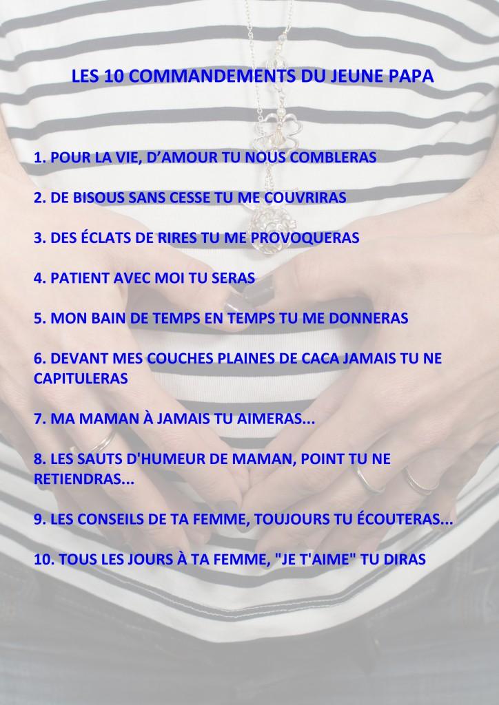 10 commandements du jeune papa