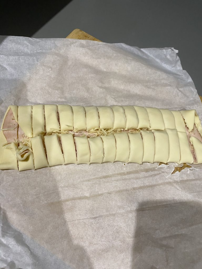 Recette palmiers jambon gruyère